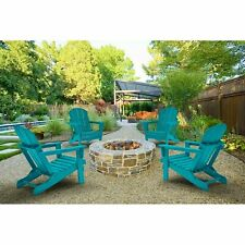 4 PCS Adirondack Folding Chairs Outdoor Outside Indoor Patio Furniture Poly Seat