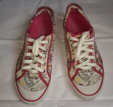 AUTHENTIC COACH POPPY SNEAKERS SHOES 7.5B PINK/MULTICOLORED