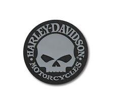 """Harley-Davidson """"Willie G. Skull"""" Bügelpatch 97660-21VX Aufnäher Emblem Grau"""