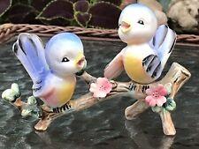 Vintage Norcrest Lefton Bird Bluebird Branch Anthropomorphic  Figurine Blue Baby