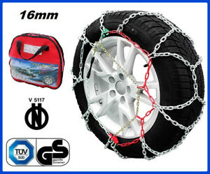 Catene da neve 9 mm per AUDI A4 con pneumatici 225//55//16 Gruppo 10