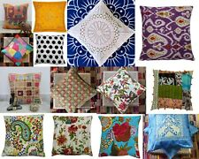 Indian Art Cushion Cover Handmade Kantha Home-Bed Pillow-Case Square- Cover