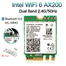 WiFi 6 AX200 AX200NGW WiFi Card 802.11ax 2.4G/5GHz NGFF Wireless Bluetooth 5.0