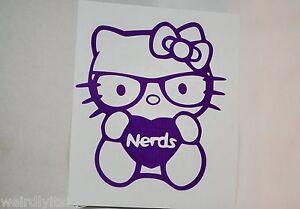 Hello Kitty Heart Nerds Vinyl Car Bumper Laptop iPad Window Tablet Decal Sticker