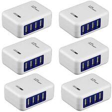 4 Ports EU Plug USB Smart Charger Multiple Wall Adapter Mobile Phone 5V 3.1A