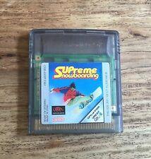 SUPREME SNOWBOARDING Jeu Sur Nintendo Game Boy Color Version Française