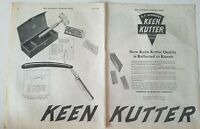 1920 Keen Kutter shaving straight razor vintage cutlery tools 2 page ad