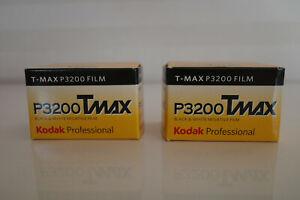 Kodak TMAX P3200 Black and White 35mm Film 2x rolls of 36exp DATED 08/19