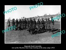 OLD LARGE HISTORIC PHOTO OF KAPUNDA SA THE WWI MACHINE GUN CORPS TRAINING c1914