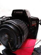 Canon EOS Rebel S QD 35mm SLR Film Camera lot with extra lenses.