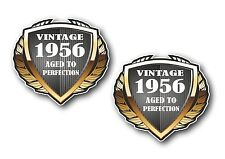 2pcs bouclier datée du 1956 vintage aged to perfection vinyle motard casque autocollant voiture