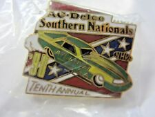 NHRA 90 10th Annual AcDelco Southern National Atlanta GA Drag Racing Event Pin