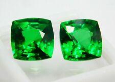 A++ Clean Loose Gemstone 18 Ct Certified Green Tsavorite Garnet Pair