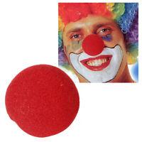 1 x Naso Rosso Giorno Halloween Clown Del Circo in Schiuma Costume Naso