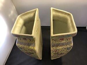 China Antique Pair of Rare Family Rose  Vases