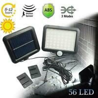 56 LED Solar Power Motion Sensor Light Security Flood Outdoor Garden Path Lamp