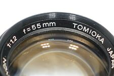 Tomioka 55mm 1:1.2 Auto Chinon camera lens, Ultimate Bokeh, M42 Mount, F1.2