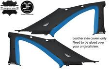 BLACK & BLUE 2X B C PILLAR LEATHER COVER FITS NISSAN SKYLINE GTS GTR R33 93-98