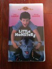 Little Monsters [VHS]  Fred Savage Howie Mandel MGM Classic 1989 RARE CLAMSHELL