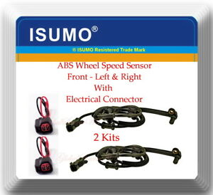 2 ABS Wheel Speed Sensor W/ Connector Front L&R For:RAM4500 RAM5500 2008-2016