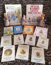 Peter Rabbit Collectors Lot Books Beatrix Potter Vintage Toys bundle