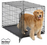 """42"""" Large Pet Dog Cat Crate Kennel Cage Bed pan Folding Metal Playpen, Cover Bed"""