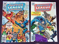 JUSTICE LEAGUE OF AMERICA #136 & 137 - 1976 DC Comics -Superman vs. Shazam!