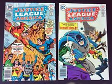 JUSTICE LEAGUE OF AMERICA #136 & 137 - 1976 DC Comics -Superman vs. Shazam!
