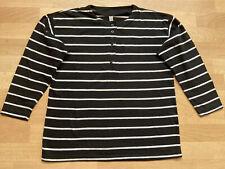 Langarmshirt  schwarz / weiß gestreift in  Gr. 40/42
