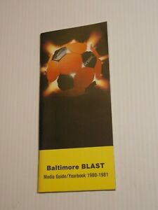 1980-1981 Inaugural Season BALTIMORE BLAST MISL SOCCER Media Guide Program