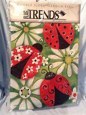"Summer Ladybugs Double Sided Garden Flag 13"" x 18 "" FlagTrends Sue Zipkin $12.99"