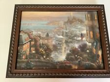 "Thomas Kinkade San Francisco Lombard St.10.5""x 13.5"" Certificate /Authenticity"