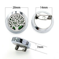 20mm Stainless Steel Aromatherapy Essential Oil Brooch Diffuser For Famale