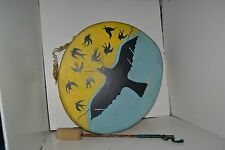 Vintage Handmade & Hand Painted Native American Drum