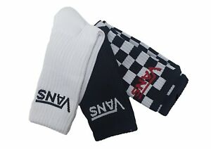 Vans Classic Crew Socks Checkered Black White Sports Shoes UK Size 9.5 - 13 Trip