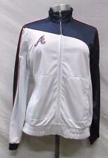 Atlanta Braves Women Medium Full-Zip Embroidered Track Jacket MLB White