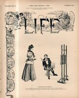 1896 Life March 5 - Will W W Astor Marry Lady Randolph Churchill? Brown cheaters