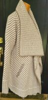 Joie Striped Ivory TamnWool Sweater Cardigan Pockets Wool Cashmere Blend S NWT
