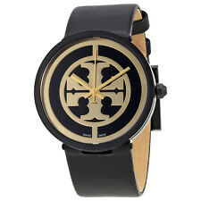 Tory Burch Reva Black Dial Leather Strap 36 MM Ladies Watch TB4024