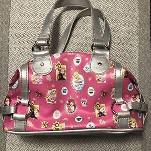 "Claire's Club Pink n Silver Princesses Girls 9"" x 5"" Handbag"
