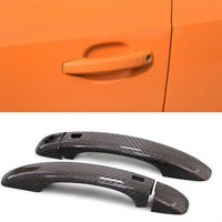 Carbon Fiber Exterior Door Handle Cover Overlay For Audi S5 w/ Intelligent Key