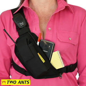Radio Chest Pack - Right - Black - Enclosed - Two Ants Trap Jaw CT200SRBK