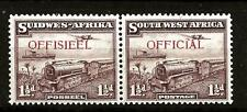 SOUTH WEST AFRICA (766)1938 SGO17 1.5d OFFICALS PAIR VERY FINE  MM / MH