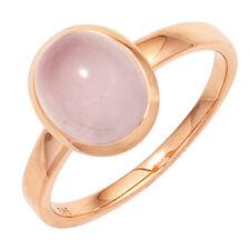 Damen Ring 585 Gold Rotgold 1 Rosenquarz Cobochon rosa Rotgoldring
