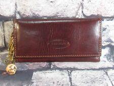 Vintage Bernini Brown Leather Key Holder / Wallet Vera Pelle Italy