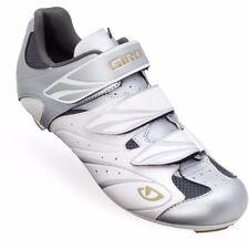 SALE! GIRO SANTE Women's Road Bike Cycling Shoes White/Silver/Gold 3-Bolt NEW