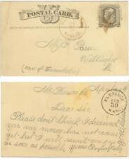 1880 McPherson Kansas fancy star cancel on pc