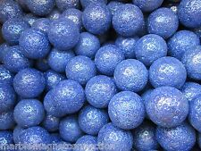 Bulk Lot 50 One Inch Shooters Asteroid Blue Speckle Mega Marbles Free Shipping