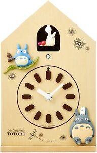 My Neighbor Totoro Wall Clock Wooden Mechanical clock Rhythm clock Japan F/S