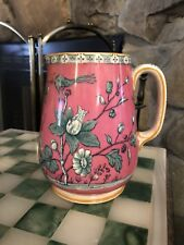 B.W&Co Late Mayers  Large Pitcher Pink And Blue Floral Nizam Pattern Sept 5 1876